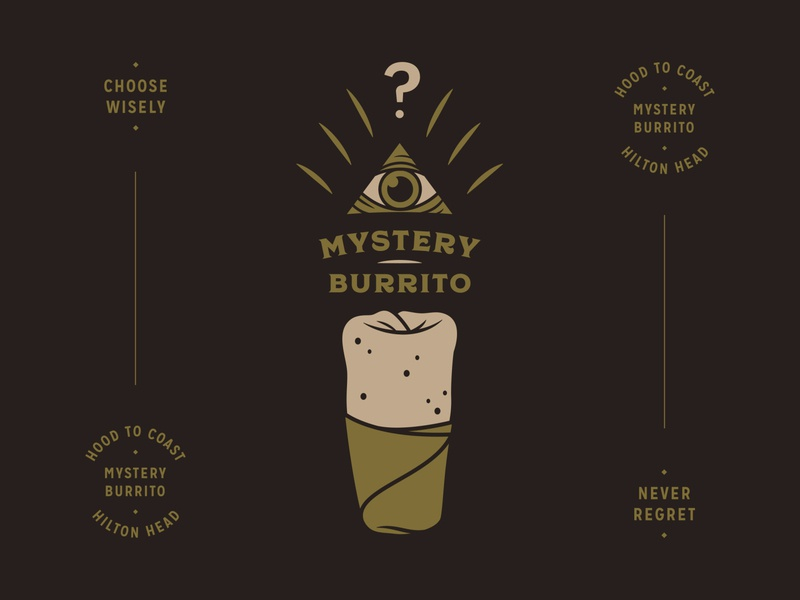 Mystery Burrito Team branding eye logo burrito logo team logo hilton head typogaphy triangle shapes mystery logo mark logo lockup illuminati identity icon eye burrito brand development