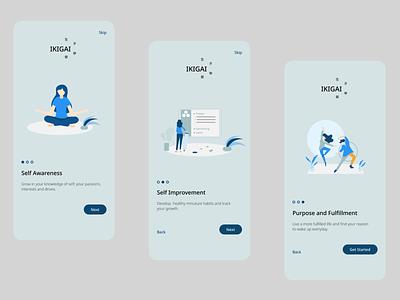 Onboarding Screens - Self Help App Concept ui design inspiration productdesign onboarding