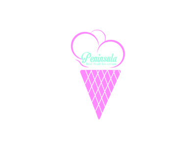 Real Fruit Ice cream Logo vintage trifold table tent table retro poster post pink pattern modern menu ice-cream ice cream food flexible cool business card business brochure