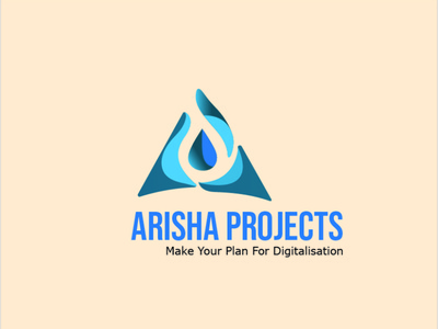 Ariha Projects logo shiny project new year new lightning light industry faster factory electric elec corporate circle brown bolt