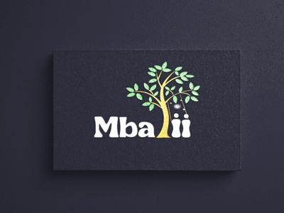 Mbalii logo 2 presentation photoshop photo paper mockup logo letterpress gold foil engraved emboss editable display cs colour colorful cardboard canvas