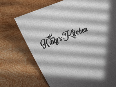 Kaily s Kitchen logo restaurant knife kitchen house home fresh fork food eat dinner delicious cooking cook