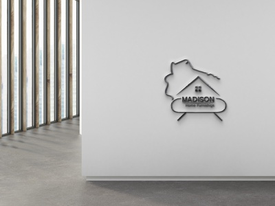 Madison Home Furnishigs lodo Desiga logo housing houses house home staging home finder home decor home green home elegant eco house construction cabin building builder build architecture architectural