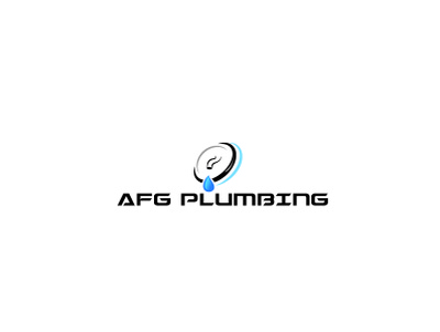AFG Plumbing logo Design tank spanner sink shower sewage service sanitation repair plunger plumbing plumber pipe heating flush fixture fix faucet clogged bathroom