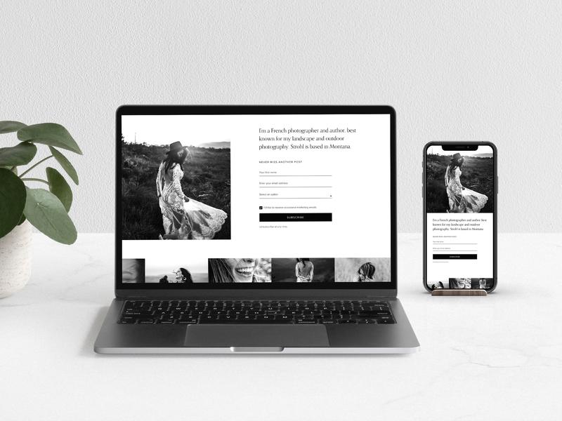 Lead Capture Short Lander Template website design design web newsletter email landing page web design