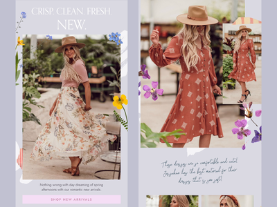 Women's Fashion Email Design –Spring womens fashion newsletter design newsletter email marketing email designer email template email design email spring