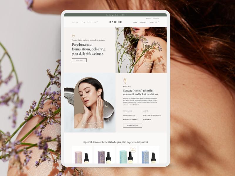 Website Design Skin Care –Coming Soon beauty typography minimal soft feminine web design landing page website designer website design skin care skincare