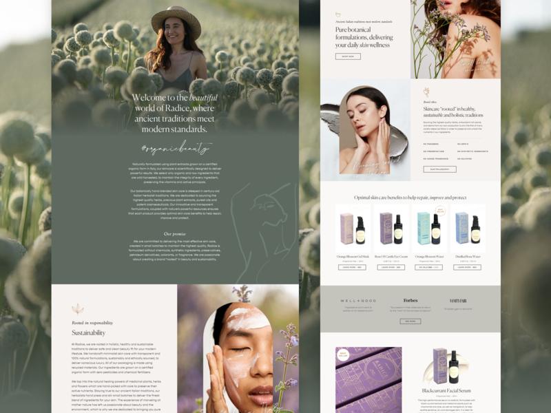 Skincare Website Design –Coming Soon
