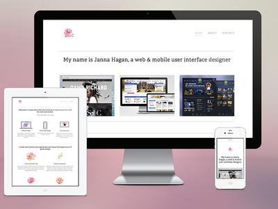 Portfolio portfolio responsive responsive web design portfolio website rose simple clean fresh iphone ipad