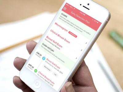iPhone Timeline App iphone mobile iphone design cancer health app timeline ios7