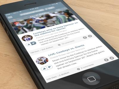 Sports iPhone App