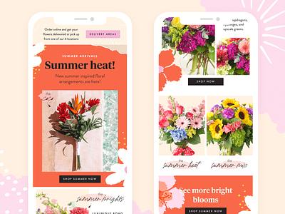Fun Email Marketing Design feminine texture fun bright flowers web designer email campaign email template email marketing email design