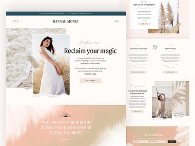 Homepage Design watercolour website designer website design feminine branding landing page design landing page homepage homepagedesign