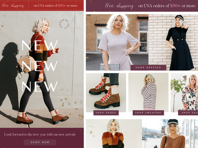 Fashion Collage homepage homepage design texture website designer website design shopify webdesign feminine ecommerce collage fashion