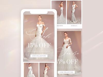 Bridal Email Marketing Design feminine texture edm wedding mailchimp template mailchimp email designer email template email design email bride bridal