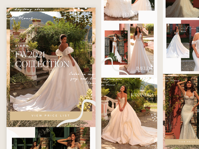 Bridal New Collection Email Design feminine texture bridal email marketing email campaign mailchimp email designer email template email design emails email
