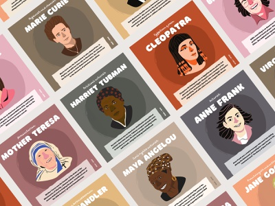 Women of History Series for Canva instagram template instagram post design instagram post international womens day woman illustration illustrated woman women canva template canva