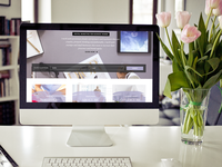 Female Entrepreneur Digital Marketing Landing Page