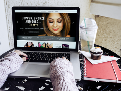 Makeup & Beauty Accessories Website makeup beauty feminine girly pretty landing page ecommerce fashion ui design responsive women shop