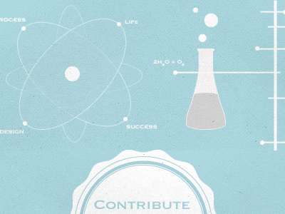 Science is Fun science diagram lab contribute badge nucleus atom test tube