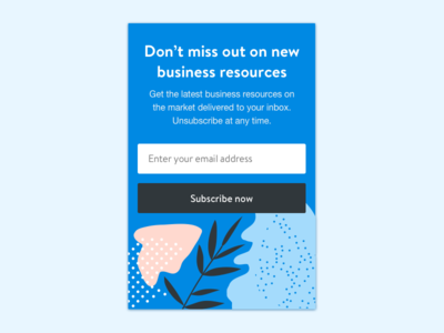 Simple Call to Action colorful sidebar newsletter email subscribe submit button form call to action cta