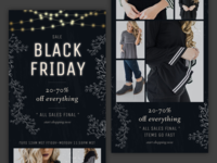 Email Design  – Black Friday & Cyber Monday