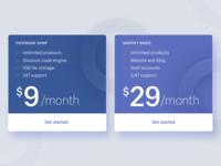 Pricing Table – Facebook Shop