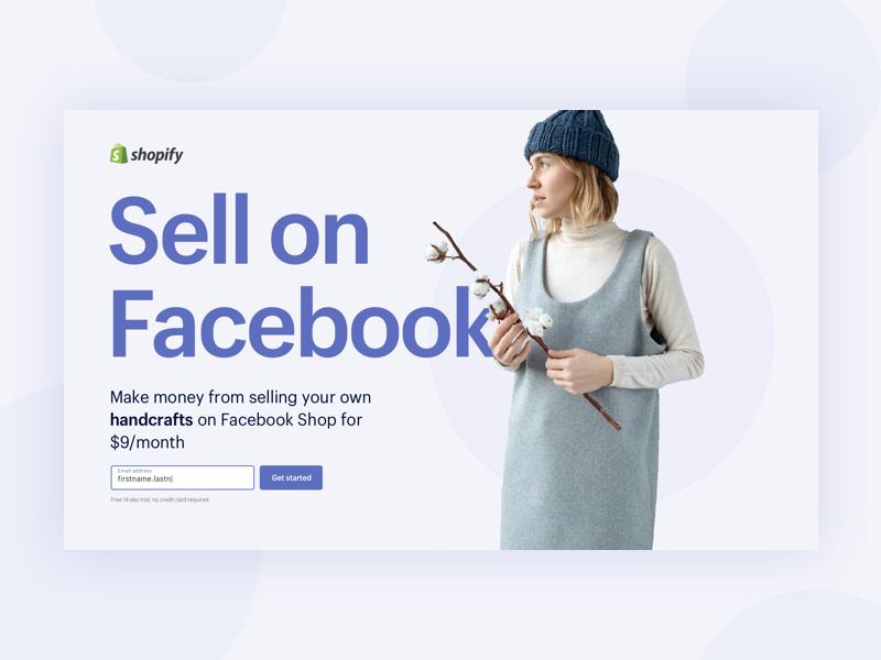 Sell On Facebook – Short Landers typography lander web sell purple landing page shopify facebook