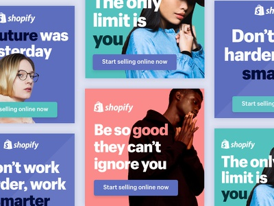 Google Ads – Shopify web display google shopify color bright bold typography ad advertising ads
