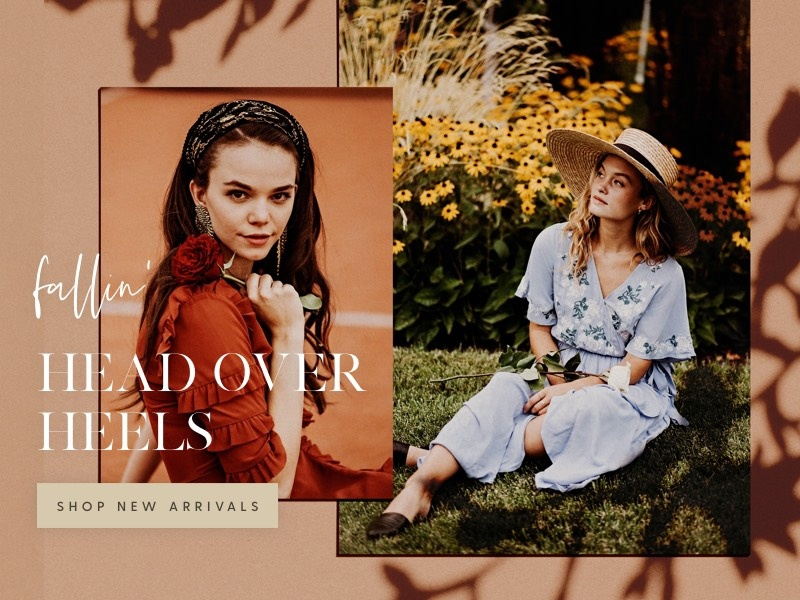 Fall Campaign eblast mailchimp flowers fashion clothing feminine email newsletter texture