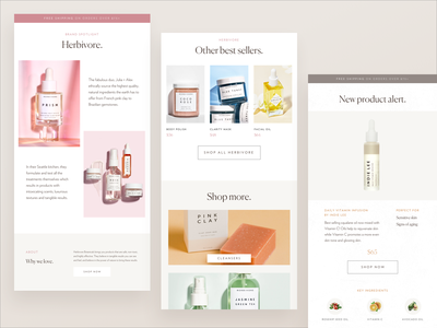 Email Templates newsletter design email campaign email banner email newsletter eblast skincare minimal newsletter email template email