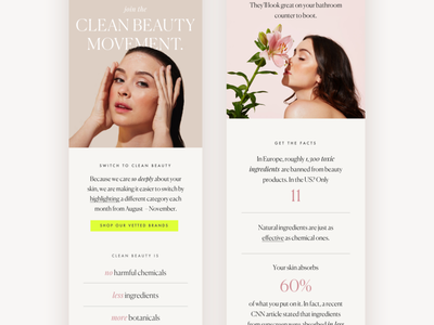 Clean Beauty Email Campaign mailchimp typography email campaign newsletter design newsletter eblast email template email design email