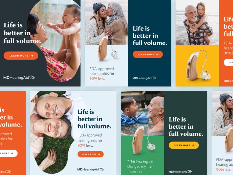Facebook Ads –Health ads social media design hearing aid healthcare digital ad ads design facebook facebook ad health