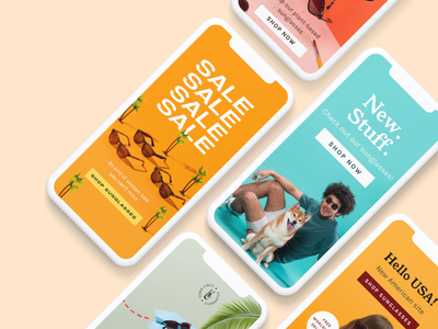 Ad Work –Tens Sunglasses colorful ads facebook ad instagram post ad ads design