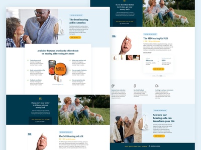 Landing Page – Hearing Aid Company health ecommerce design web design landing page ui landing page design landing page