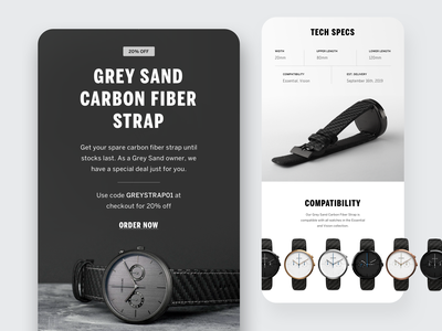 Mens Watch Brand –Email Design masculine menswear watch email campaign email marketing mailchimp newsletter eblast email designer email design