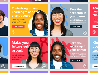 Google Ads banner ads colorful web design advertising digital ads google ads ads ad design