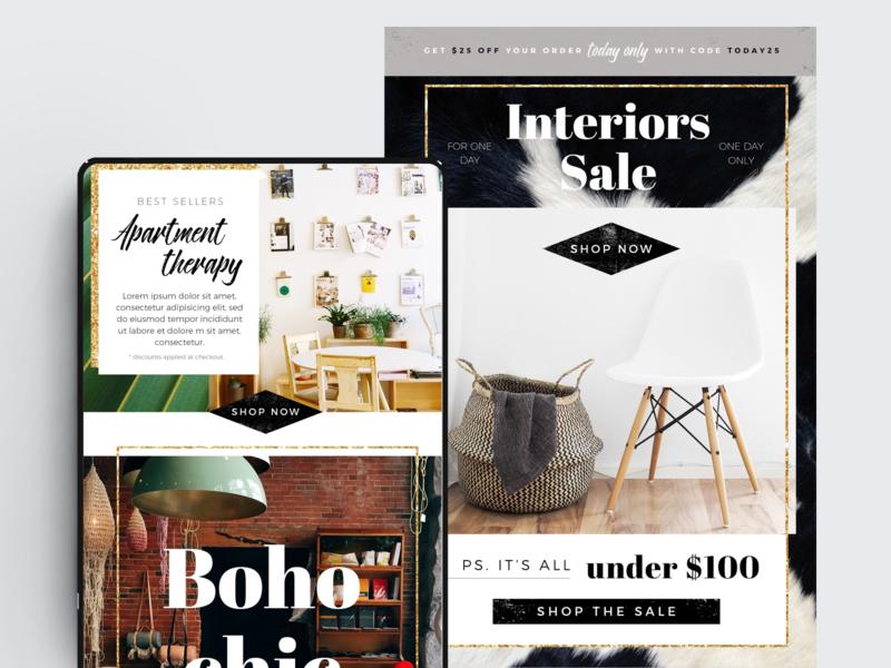 Interior Design Template – PSD marketing mailchimp email template newsletter design newsletter template newsletter email designer email design email