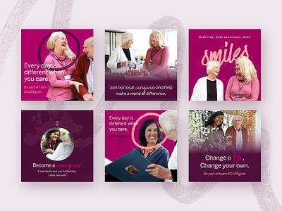 Senior Care –Modern Facebook Ads instagram web design seniors advertising ads ad design facebook post facebook ads