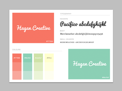 Hagan Creative Brand Guide style guide brand guide branding brand typography colours shades style