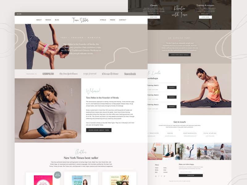 Yoga Landing Page Design web design website designer website design ui landing page landing page design landing page ui