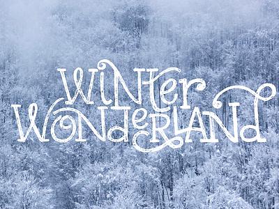 Winter Wonderland letters snow lyric song winter wonderland wonderland winter carol christmas sketch lettering hand lettering