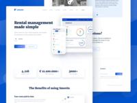 Smovin rental management system website rental website web design illustration interface ux webdesign ui web