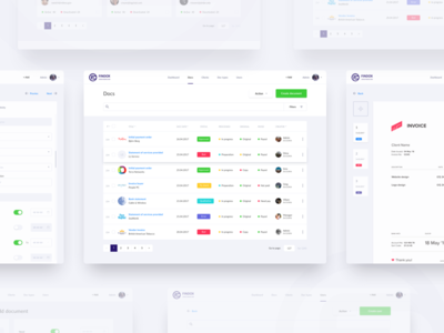 FinDox All Pages UI/UX design dashboard design flat interface material site ui user ux web