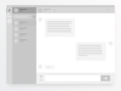 Social Messenger Concept prototype concept inbox chat app message web ux user ui