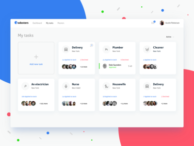 Todosters admin app charts dashboard design interface list tasks ui ux web todo