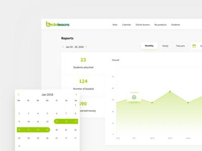 Birdielessons #2 web ux user ui reports interface design dashboard app