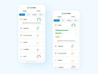 CellRebel Mobile Network Guide mobile app design ranking mobile ui mobile app ux ui interface app