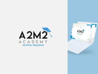 A2M2 Academy । Logo Design graphic design learning logo education logo academy logo brand identity icon design design mine branding logo design logo