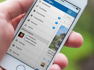 Mobile Web Flyout Nav [Concept] ui interface navigation mobile